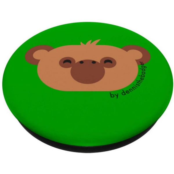 animal friends popsocket monkey chimpanzee green closed