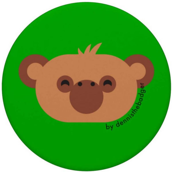 animal friends popsocket monkey chimpanzee green top