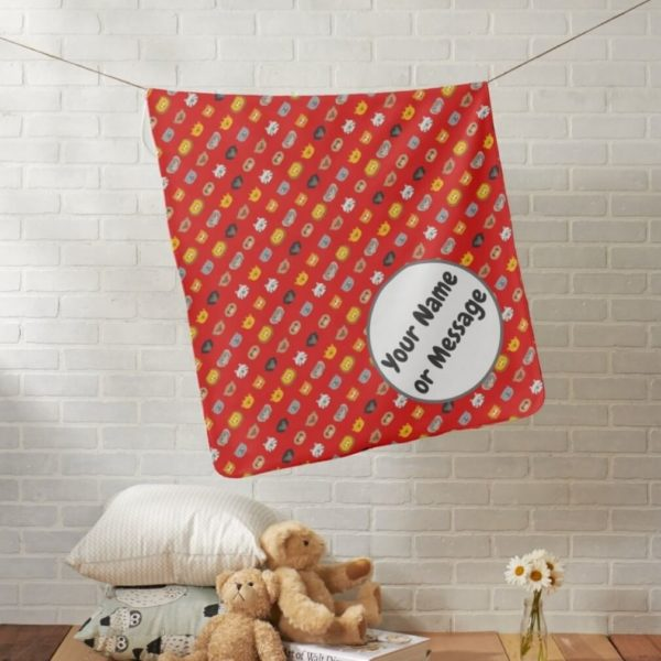 baby blanket animal friends party cute customizable red lifestyle