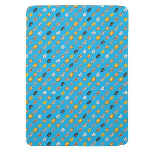 baby blanket animal friends party kids gift cute blue