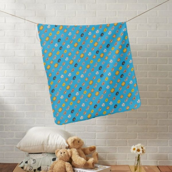 baby blanket animal friends party kids gift cute blue lifestyle