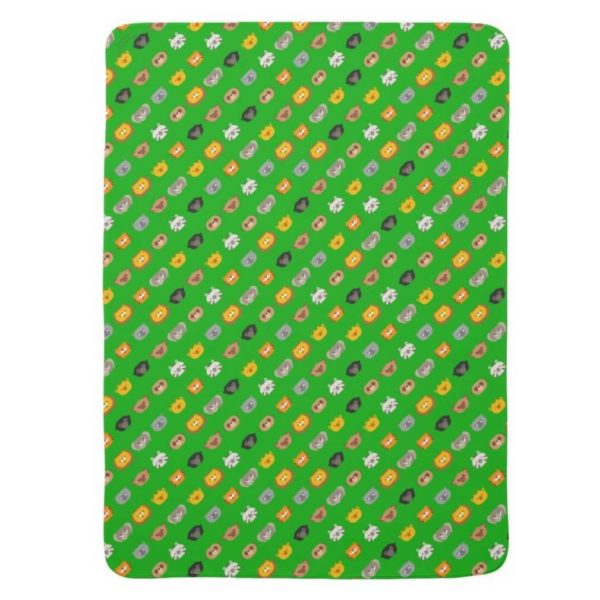 baby blanket animal friends party kids gift cute green