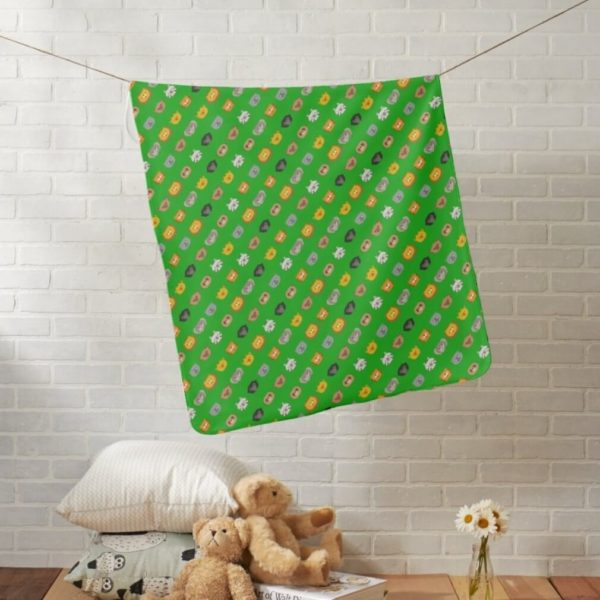 baby blanket animal friends party kids gift cute green lifestyle