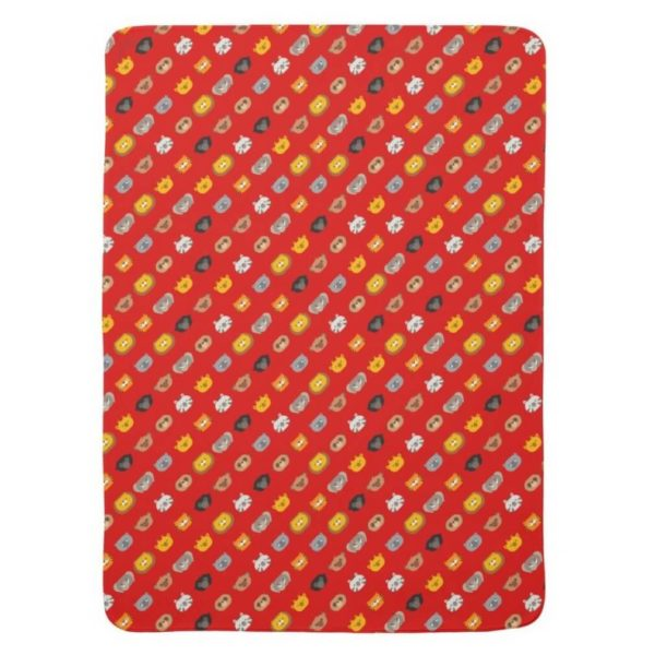 baby blanket animal friends party kids gift cute red