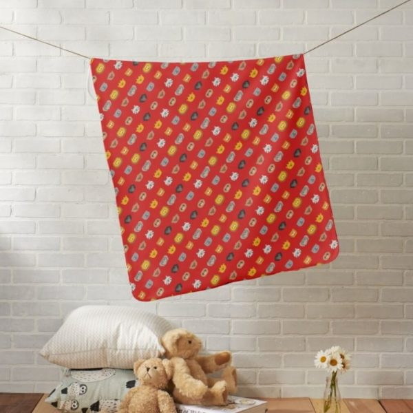 baby blanket animal friends party kids gift cute red lifestyle
