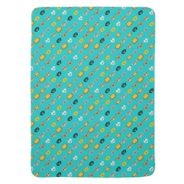 baby blanket animal friends party kids gift cute teal turquoise