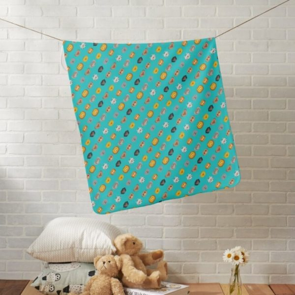 baby blanket animal friends party kids gift cute teal turquoise lifestyle