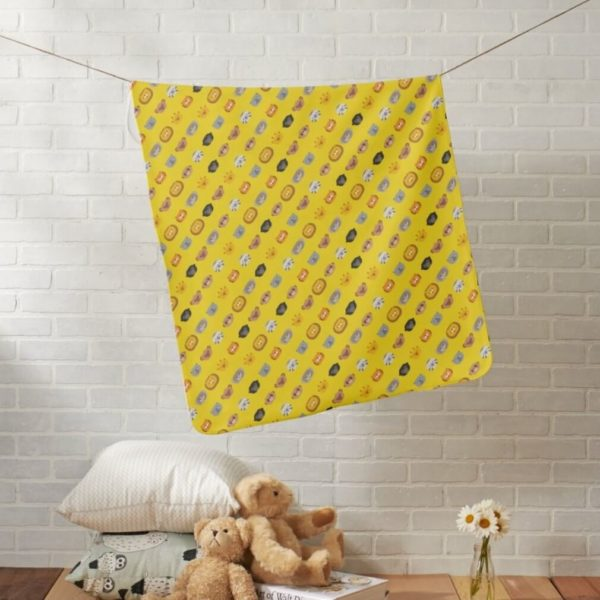baby blanket animal friends party kids gift cute yellow lifestyle