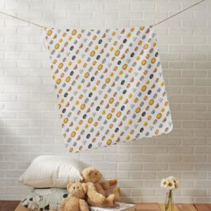 baby blanket jungle animal friends white lifestyle
