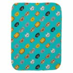 baby burp cloth jungle animal friends teal turquoise