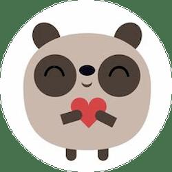 badger heart circle 250