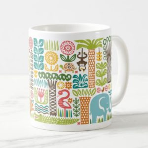day in the jungle mug colorful animals pattern