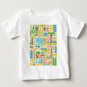 day in the jungle t-shirt baby colorful animals pattern