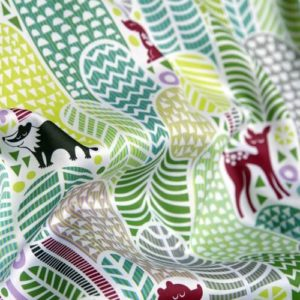 dennisthebadger welcome to the forest fabric closeup