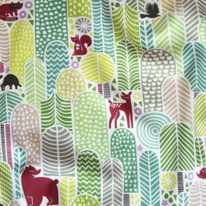 dennisthebadger welcome to the forest fabric sheet