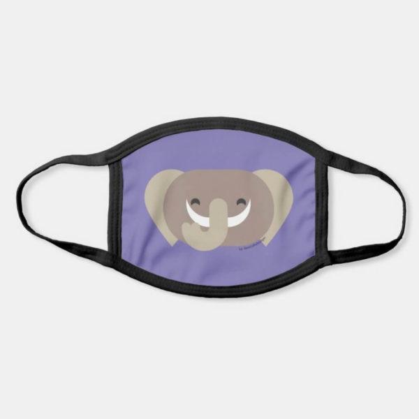 face mask elephant cute animal friends purple