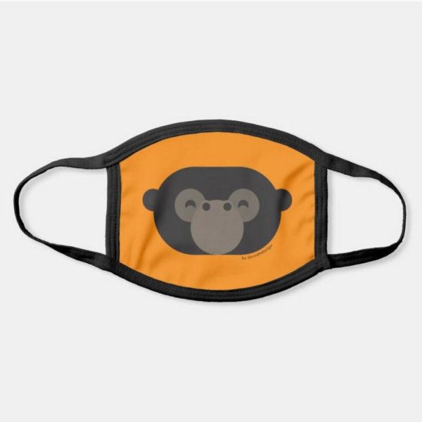 face mask gorilla cute animal friends orange