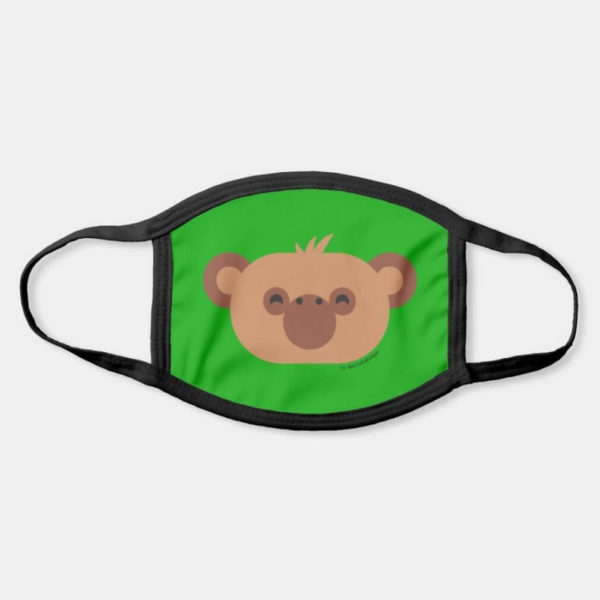 face mask monkey chimpanzee cute animal friends green