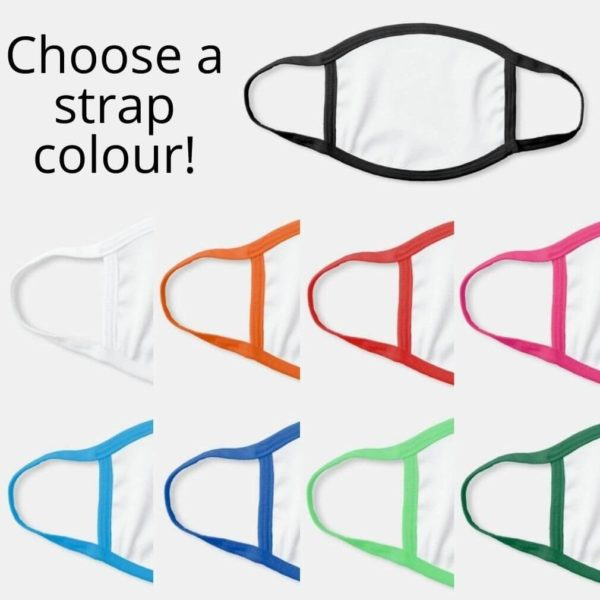 face mask strap ear loop colour selection