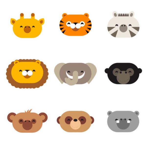 jungle animal friends 3x3