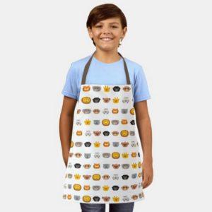 jungle animal friends kids apron cute modern minimalist cartoon on boy