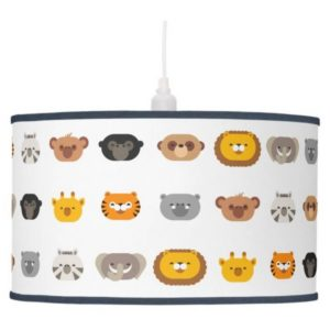 jungle animal friends kids pendant lamp cute modern minimalist cartoon