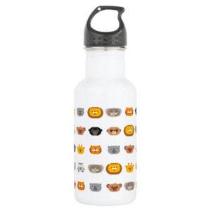 jungle animal friends kids water bottle cute modern minimalist cartoon