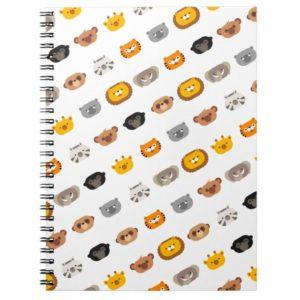 jungle animal friends spiral notebook cute modern minimalist cartoon