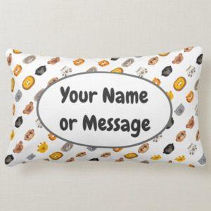 jungle animal friends throw pillow lumbar cute modern minimalist cartoon customized