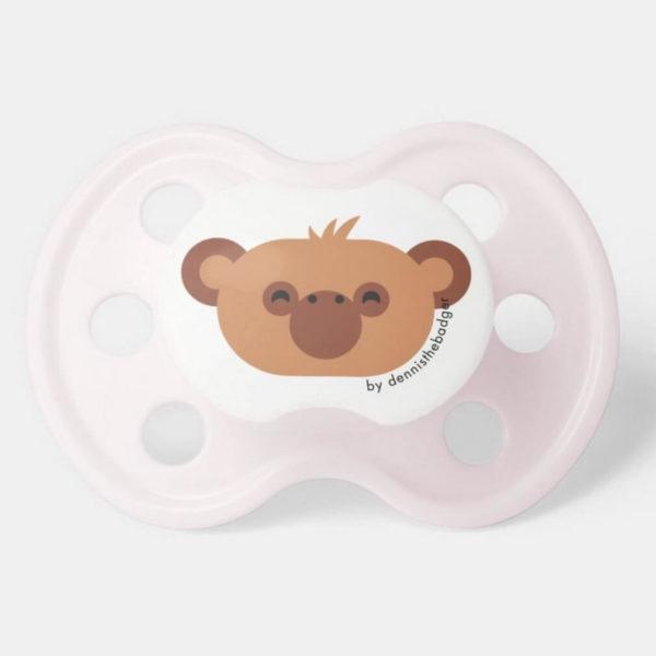 pacifier baby dummy chimpanzee cute animal friends pink
