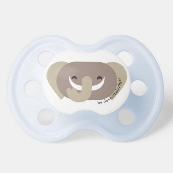 pacifier baby dummy elephant cute animal friends blue