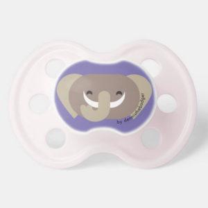 pacifier baby dummy elephant cute animal friends purple pink