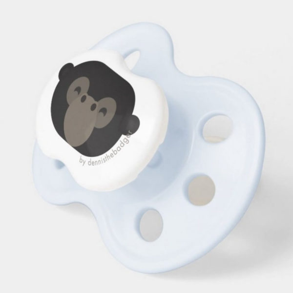 pacifier baby dummy gorilla cute animal friends blue 2