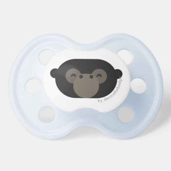 pacifier baby dummy gorilla cute animal friends blue