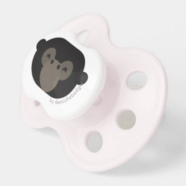 pacifier baby dummy gorilla cute animal friends pink