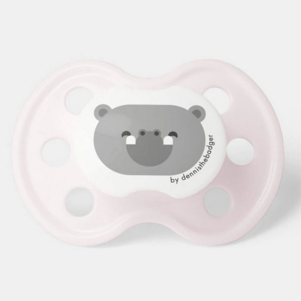 pacifier baby dummy hippopotamus cute animal friends pink