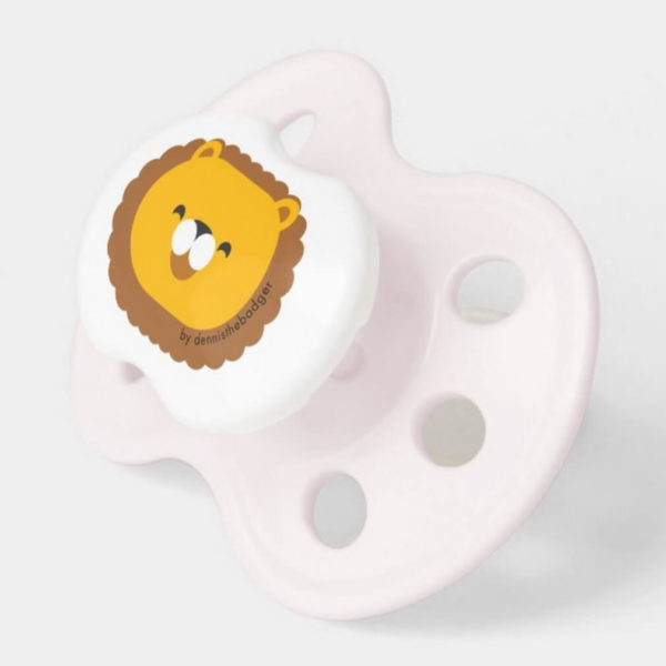 pacifier baby dummy lion cute animal friends pink 2