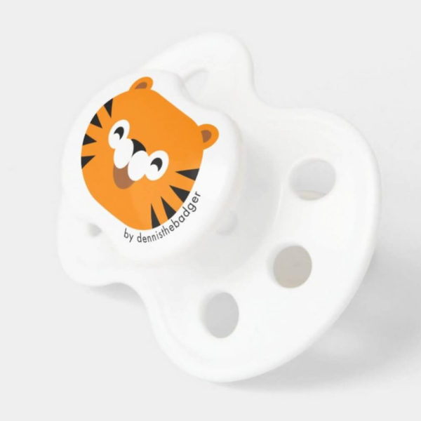 pacifier baby dummy tiger cute animal friends 2