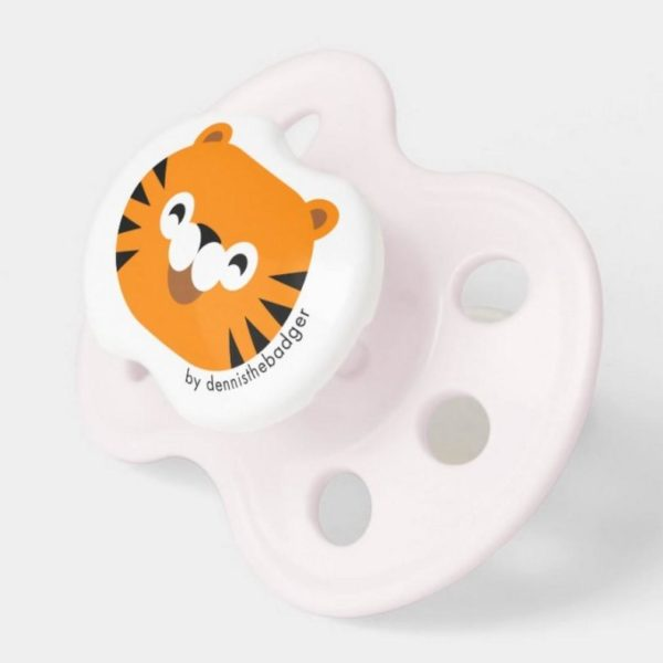 pacifier tiger baby dummy tiger cute animal friends pink 2