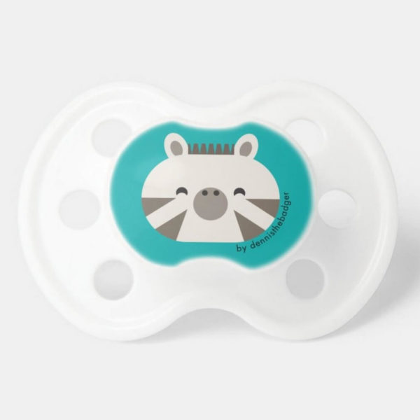 pacifier baby dummy zebra cute animal friends teal