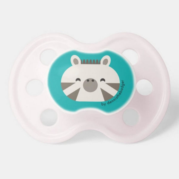 pacifier baby dummy zebra cute animal friends teal pink