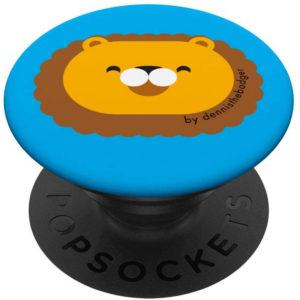 popsocket lion animal friends blue - available on Amazon