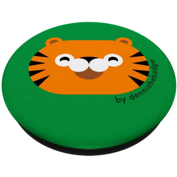 popsocket tiger animal friends green closed - available on Amazon