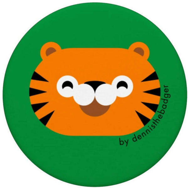 popsocket tiger animal friends green top - available on Amazon